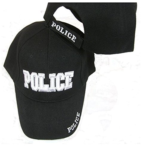 (Police Embroidered Adjustable Hat Black Ball Cap)