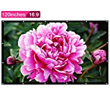 """120"""" Portable Tabletop Projector Screen, 120 inches 16:9 for Home Cinema Theate Movies, Business Presentation, Education Training, Outdoor Public Display. (120'' 16:9) (Synthetic Fiber, 120 inch"""