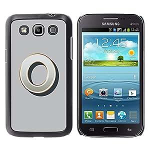 Shell-Star Arte & diseño plástico duro Fundas Cover Cubre Hard Case Cover para Samsung Galaxy Win / I8550 / I8552 / Grand Quattro ( O 0 Zero Grey Gold Nothing Initial )