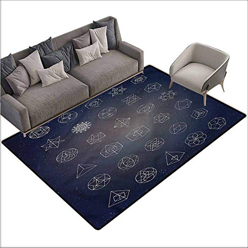 Entrance Modern Area Rugs Sacred Geometry,Esoteric Mystical 60