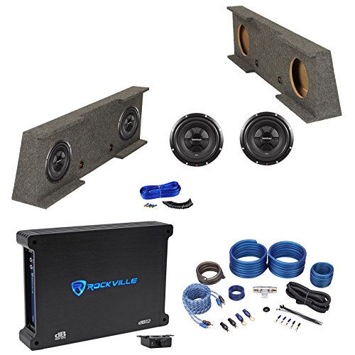 "2007-2013 GM/Chevy 1500 Crew Cab 2500HD/3500HD Dual 12"" Enclosure+Subs+Amp+Kit"