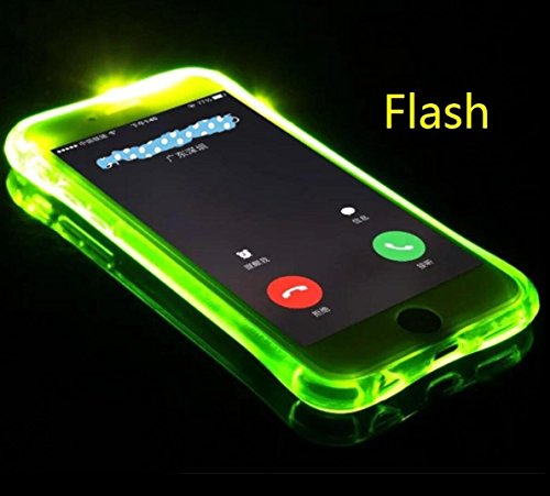 For iPhoneX Case, Omio Cool Flashing Light Up To Remind Incoming Call Slim Cover Creative Flash Alert By Phone's LED Refraction Soft Flexible TPU Ultralight Thin Clear Shell For Apple (Call Led)