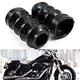 39mm Rubber Fork Cover Gaiters Gators Boots For Harley Sportster Dyna FX XL 883 1200 Harley Davidson Black