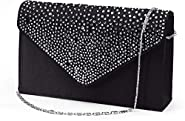 Nodykka Women Evening Envelope Handbag Party Bridal Clutch Purse Shoulder Cross Body Bag