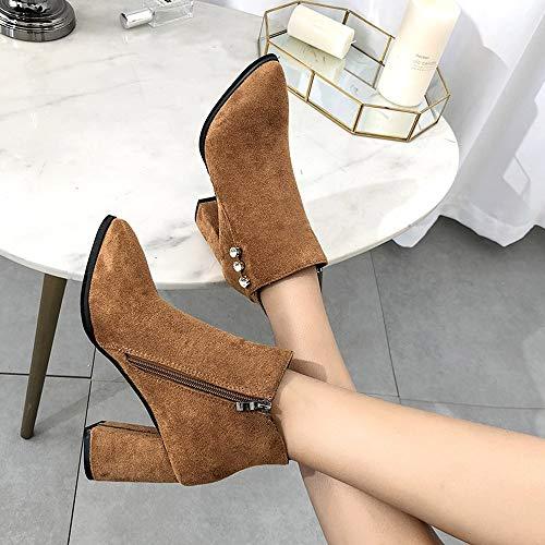 PowerFul-LOT - Zapatillas de tenis para mujer marrón marrón 36: Amazon.es: Belleza