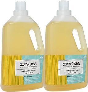 Zum Clean Aromatherapy Laundry Soap Eucalyptus-Citrus -- 64 fl oz - 2pc