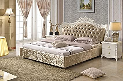 official photos 60bf7 f3924 Amazon.com: Royal Velvet King size Bed frame: Home & Kitchen