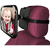 Baby Back Seat Mirror Adjustable Rear View Car Seat Mirror Yoleo Easily Watch your Precious Child In-Car, Convex and Shatterproof Glass