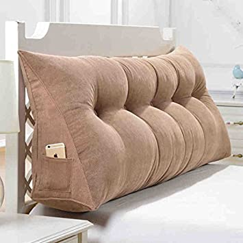 Great Sofa Pillow Bedside Cushions Large Bed Headboard Pillow Sofa Cushion Large  Backrest Removable And Washable Household Pillow Office Lumbar Pillow (  Size ...