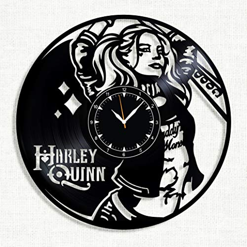 SofiClock Harley Quinn Vinyl Record Wall Clock 12