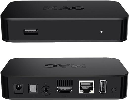 Original infomir Mag 322 IPTV Set Top Box Multi Media Player Internet TV Receptor IP (hevc H.265 Support) + Cable HDMI: Amazon.es: Electrónica
