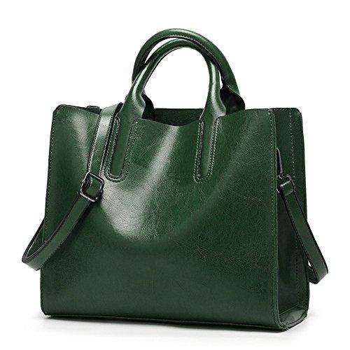2018 Mujeres Messenger Bags Soft Mujeres Crossbody Bag Designer Women Pu Bolsos de cuero Alta calidad Mujeres Bolsas, Marrón oscuro Green