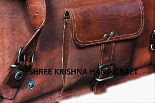 Aditya Art & CRAFT Hombres genuino del hombro–Bolso bandolera de piel, color marrón