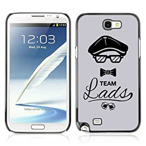 YOYOSHOP [Cool Team Lads Ilustration HIPSTER] Custodia Case Cover per Samsung Galaxy Note 2