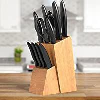 Equinox 12-Piece Knife Block Set - Premium Stainless Steel