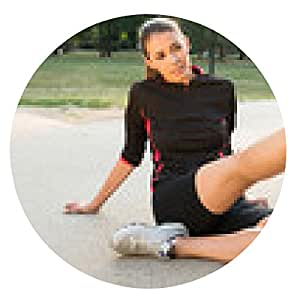 alfombrilla de ratón Hombre ayudar a la atleta femenina - ronda - 20cm