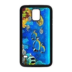 Cartoon Sea World Hight Quality Plastic Case for Samsung Galaxy S5