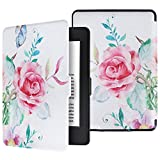 (US) Aimerday Kindle Paperwhite Case Cover - The Thinnest and Lightest PU Leather Rose Smart Cover Auto Sleep/Wake for all-new Amazon Kindle Paperwhite (Fits all 2012, 2013, 2015 and 2016 Versions)