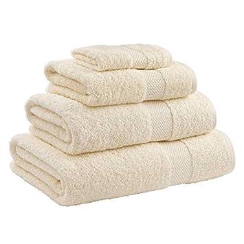 Catherine Lansfield Toallas de baño 100% Algodón egipcio - Crema, Toalla de baño grande: Amazon.es: Hogar
