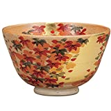 Matcha bowl gold leaf autumn leaves [ Kutani ]