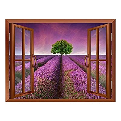 Wall26 - Tree on a Purple Filed Removable Wall Sticker/Wall Mural - 36