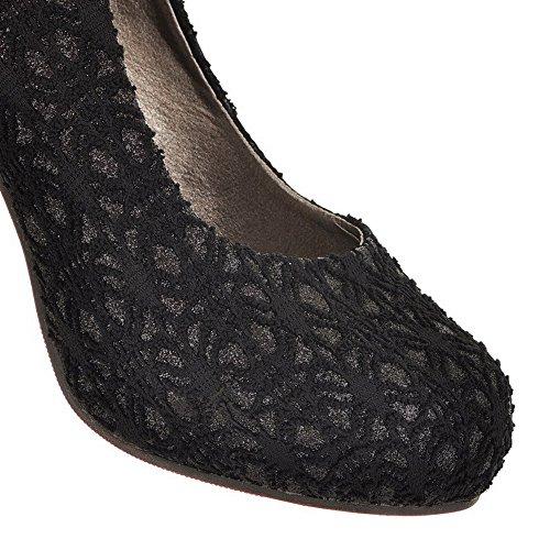 Balamasa Femmes Tirer Sur Des Talons Hauts Pompes Solides Chaussures Noir