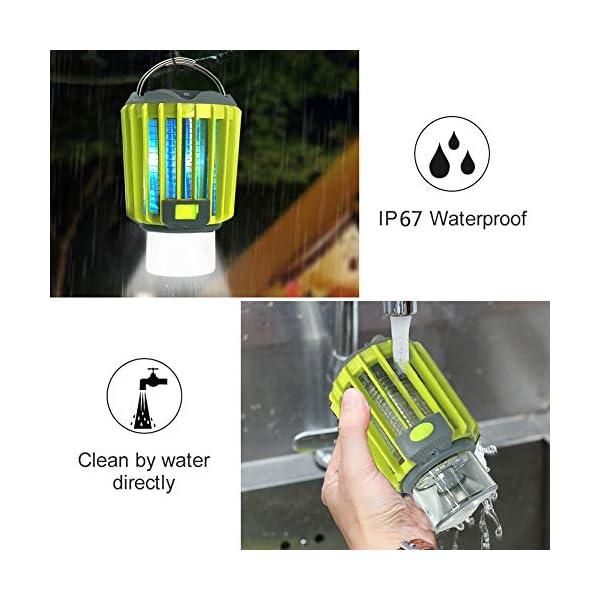 Anordsem 3 in 1 Lanterna da Campeggio Lampada Antizanzara Torcia Impermeabile IP67 con USB ed Energia Solare… 7 spesavip