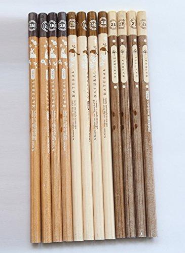 GANSSIA Pencil 2B Wooden Pencils Pack of 12