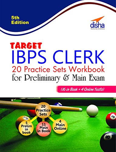 Target IBPS Clerk 20 Practice Sets Workbook for Preliminary & Main Exam (16 in Book + 4 Online Tests) 5th English Edition