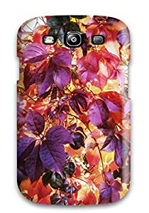 Hot Snap-on Leaf Hard Cover Case/ Protective Case For Galaxy S3