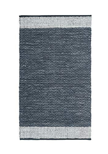 Handmade Contemporary Premium Vintage Recycled Leather Area Rug, 3 X 5 Feets Dark Grey , Perfect for Bed Room, Living Room, Kitchen, Kids Room, Loft, Gaming Zone, Office and More