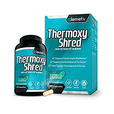 Elemetx® ThermoxyShred - High Octane Fat Burner - Advanced ECA Stack Thermogenic - Real Weight Loss Results - Best in Class Formula - No Crash or Overstimulation