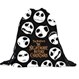Clearance! Unisex 3D Halloween Skull Drawstring Backpacks Shoulder Bag Travel Pack Outdoor Sport Cinch Sack (A) Review
