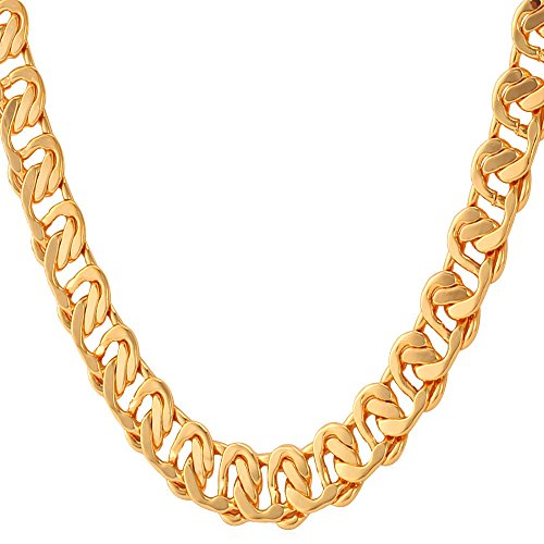 Jewelry Yellow Platinum Plated Necklace