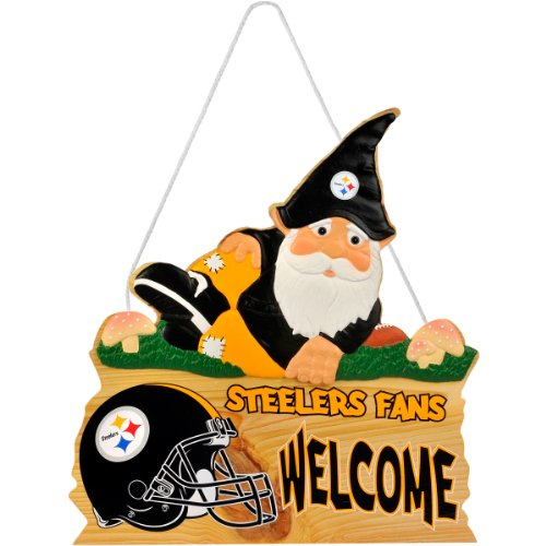 Pittsburgh Steelers Gnome Sign by Team Beans