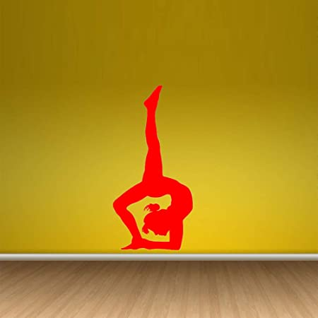 zqyjhkou Hermoso Yoga Zen Gym Girl Wallpaper Pegatinas de ...