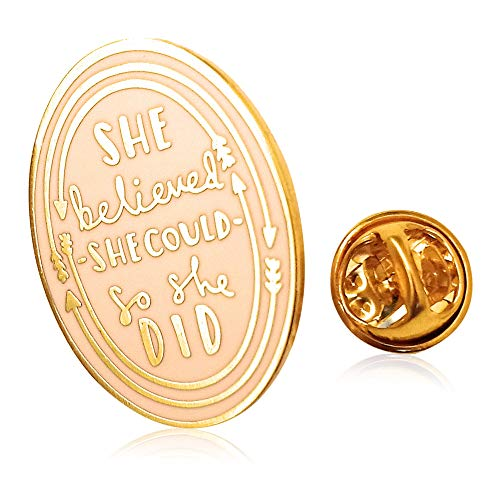 - Enamel pin, She Believed She Could So She Did by 44Cloverdale