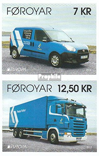 Denmark - Faroe Islands 783-784 (Complete.Issue.) 2013 Post (Stamps for Collectors) Road Traffic