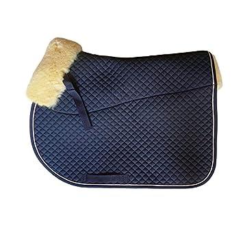 KANEX Mantilla de equitación caballo / Mantilla para caballo piel de cordero - Azúl: Amazon.es: Productos para mascotas