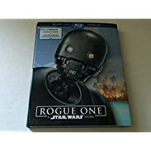 Rogue One Blu-Ray+DVD+Digital HD Exclusive Packaging & 2 Star Wars Galactic Connexions Trading Dics