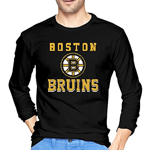 Man Bear Boston Bruins Logo T Shirts Black