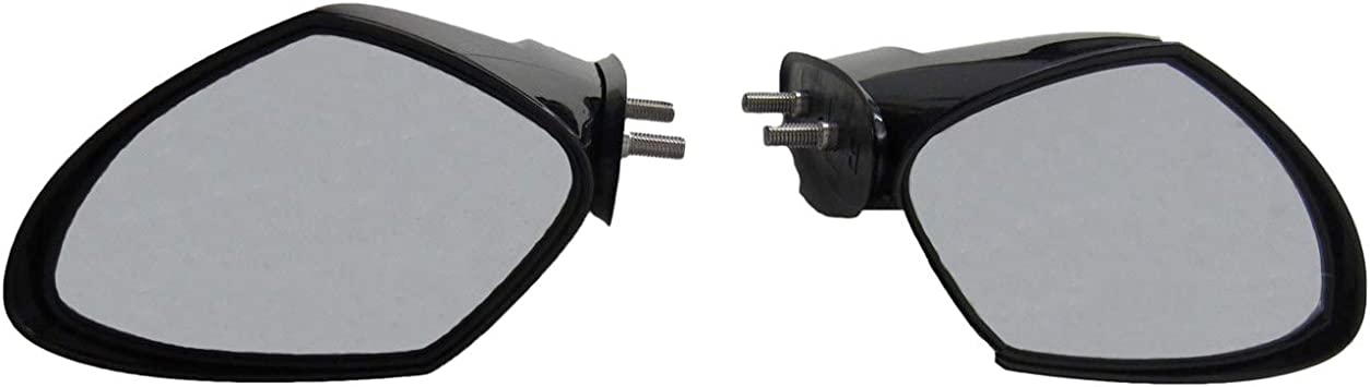 For Yamaha VX110 Compatible with 2005-2009 Yamaha PWC WaveRunner VX110 Cruiser Deluxe Sport Black Mirror Kit LEFT AND RIGHT