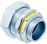 Hubbell-Raco 3404-8 Connector, Liquid Tight, 1-Inch Trade Size, Straight, Flex and Type B Flex, Steel or Mall, Uninsulated