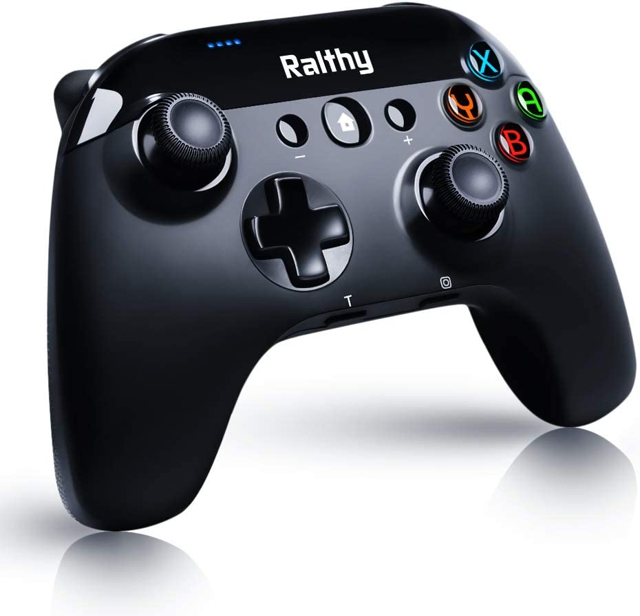 Ralthy Wireless Pro Controller for Nintendo Switch/Switch Lite Remote Joypad Gamepad Support Adjustable Turbo, Dual Shock and Gyro Axis[2020 New Version]