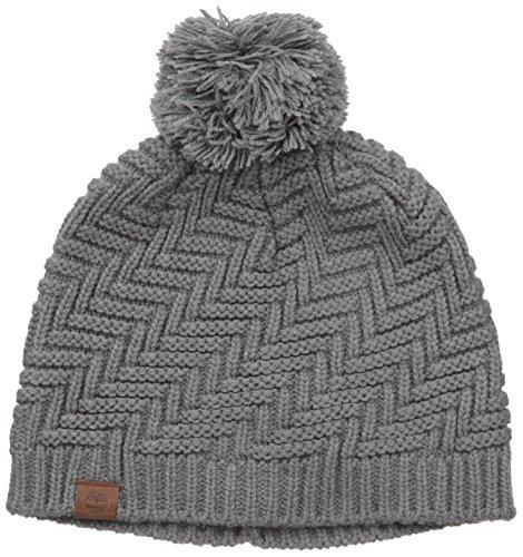Knit Zig Zag Hat Pattern : Timberland womens zig zag pattern knit beanie with pom