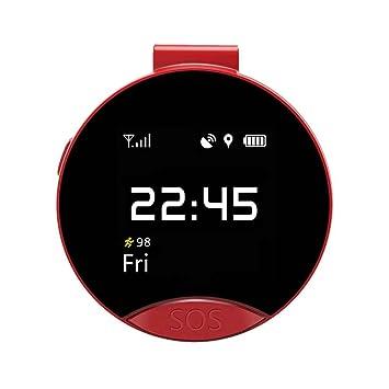Fangfeen Ronda Reloj de Bolsillo S9 Ancianos Inteligente de posicionamiento GPS localizador Inteligente Reloj de Bolsillo de Soporte para pequeñas Tarjeta ...