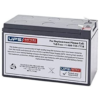 Ademco 4140XMPT Sealed Lead Acid (SLA) Replacement Battery 12V 7Ah with F1 terminal