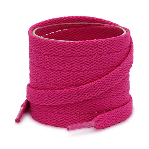 Sneaker Shoes' Flat Shoelaces for Men & Women, 2 Pair Pack, Hot Pink, 47in(120cm) - 120-12-MeiHong]()