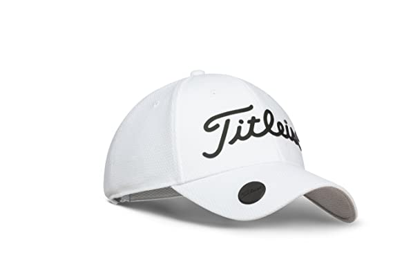 Titleist 2018 Performance Adjustable Ball Marker Hat (White Black ... 883b5f88a45