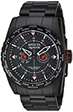 Invicta Men's 'Aviator' Quartz Stainless Steel Casual Watch, Color:Black (Model: 22985)